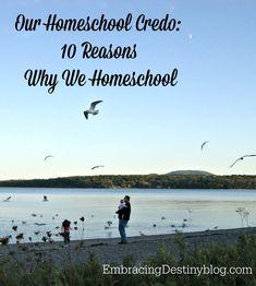 Our Homeschool Credo: 10 Reasons We Home Educate our Children ~ why we do what we do @ embracingdestinyblog.com