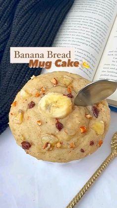 Mug Recipes, Fun Baking Recipes, Vegan Recipes, Dessert Recipes, Cooking Recipes, Easy Recipes, Dinner Recipes, Easy Meals, Banana Bread Mug