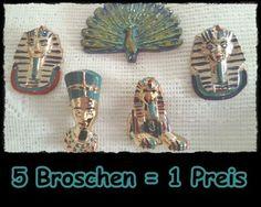 Ägyptischer Schmuck - *Ägypten* BroschenSet 122-19 - ein Designerstück von raritaeten-kammerl bei DaWanda