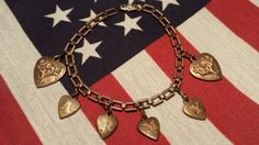 NICE U.S. Army Sweetheart Bracelet  VINTAGE by ceiltiques on Etsy