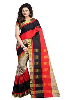 6dbfbc890ef Prayaga Women s Bhagalpuri Silk Saree With Blouse Piece (Nil Multicolour)  Colour  Multi colour