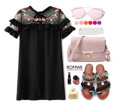 """Welcome to Paradise: Tropical Vacation, Romwe!"" by samra-bv ❤ liked on Polyvore featuring WithChic and Deborah Lippmann"