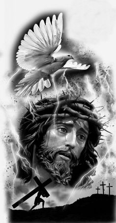 Jesus, tattoo preto e cinza ,desenho tattoo religiosas A reputation known around the world We are committed to make this tattoo process a positive experience all around. Religion Tattoos, Jesus Wallpaper, Jesus Drawings, Tattoo Drawings, Christus Tattoo, Religous Tattoo, Religious Tattoo Sleeves, Tattoo Avant Bras, Jesus Tattoo Design