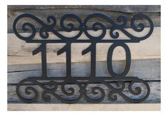 House Number - Customized with your number This House Number can be hung on a wall above your door, beside it, or along a rail. This Art Sign Mailbox Numbers, Door Numbers, House Numbers, Outdoor Wall Art, Outdoor Walls, Monogram Stencil, Home Fencing, Custom Metal Signs, Art Sign