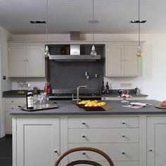 Grey Industrial Kitchen With Island