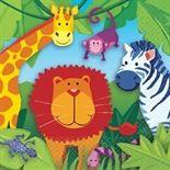 16 Servietten Bunte Dschungelwelt