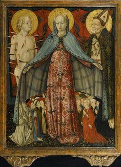 Antonio da Fabriano - Madonna della Misericordia, dettaglio - intorno al 1470 - Istituto Toniolo di Milano
