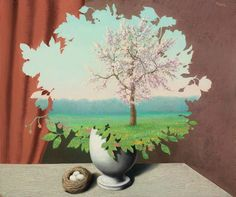 René Magritte, Le plagiat, 1940. Sold, Christie's, London, 6 February, 2013, lot 110. © 2016 C. Herscovici, London / Artists Rights Society (ARS), New York.