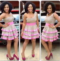 Latest Ankara style for ladies   Like this style ?   For more styles Goto >>> http://toomanystyles.com/ankara-gowns/