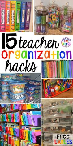Classroom Organization Hacks 15 classroom organization hacks to make teaching easier that every preschool, pre-k, kindergarten, and elementary teacher should know. FREE theme box labels too!Hacks Hacks may refer to: Classroom Hacks, Classroom Supplies, Art Classroom, Future Classroom, Classroom Storage Ideas, Kindergarten Classroom Organization, Preschool Classroom Management, Dollar Tree Classroom, Book Boxes Classroom