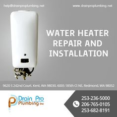 We install and repair all kinds of water heaters. Need help with your water heater problems? Water Heater Installation, Commercial Plumbing