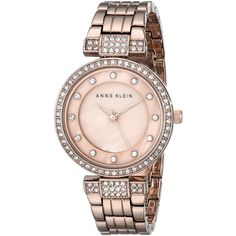 Designer Clothes, Shoes & Bags for Women Crystal Jewelry, Gold Jewelry, Jewellery, Anne Klein, Gold Watches, Jewelry Watches, Bracelet Watch, Swarovski Crystals, Rose Gold