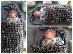 Gratis Nederlands Haakpatroon Gehaakte Trappelzak Crochet Baby Cocoon, Crochet Baby Toys, Baby Blanket Crochet, Diy Crochet, Baby Knitting, Basic Crochet Stitches, Baby On The Way, Cute Baby Clothes, Baby Sweaters
