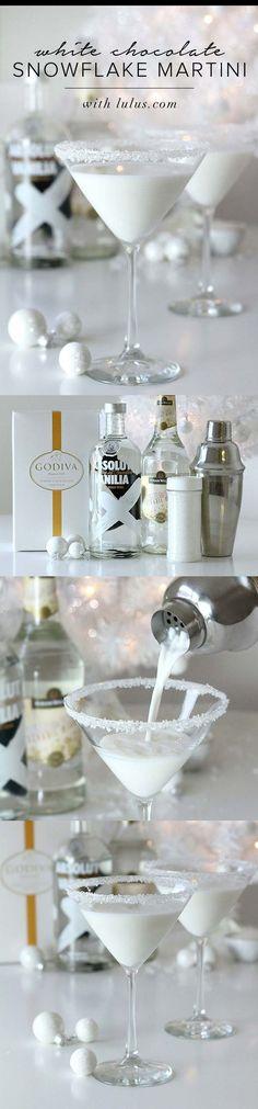 White Christmas Martini Cocktail Recipe. 2 parts Vanilla Vodka - 2 ...