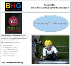 Supporting the Detroit Youth Development Commission