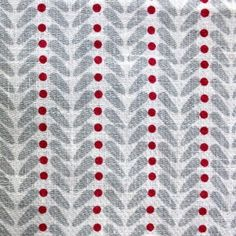 Heidi Berry, Linen Fabric printed with grey and red Living Room Color Schemes, Colour Schemes, Red Fabric, Linen Fabric, Curtain Fabric, Curtains, Red Pattern, Shades Of Red, Room Colors