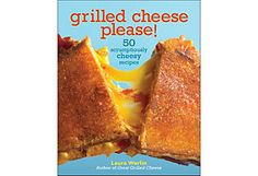 """While I can't give any recipes yet, this book with 50 """"grown up"""" Grilled cheese recipes is soon to be mine! From Brie, Mozzarella, and Sautéed Pears with Blue Cheese Butter to """"Say Olé"""" (Two Cheeses, Guacamole, Bacon, and a Corn Chip Crust) I can't wait to start warming my pan!!"""