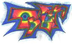 """""""Graffiti Name Tage"""" Great 8th-12th grade lesson!"""