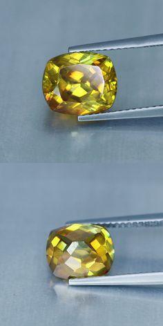 Sphalerite 181106: 5.91 Cts » Cushion Cut » Spain Rare » Golden Yellow » Sphalerite » Gq1540 -> BUY IT NOW ONLY: $199.99 on eBay!