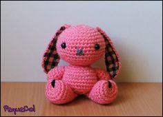 Conejito rosa kawaii