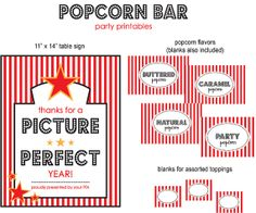 Popcorn Bar, Teacher Appreciation, Teacher end of year gift, PTA