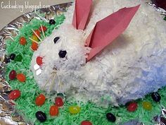 My mother made a bunny cake every easter when we were children!