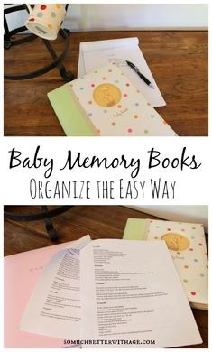 Organize Baby Memory Books - I keep notes on both of my girls on my phone from the day they were born on. Someday I will transfer those dated notes to their baby books. Ex Libris, Book Organization, Baby Memories, Baby Album, Babies First Year, Baby Scrapbook, Memory Books, Do It Yourself Home, Baby Time
