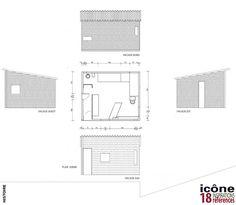 Le cabanon Le Corbusier | Le cabanon Le Corbusier  Posted on 24 juillet 2012    Réalisé en 1952 le Cabanon occupe une place à part dans l'œuvre de Le Corbusier.    C'est une petite baraque, dont l'intérieur regroupe, dans une quinzaine de mètres carrés, deux lits, une table, quelques rangements, un lavabo et un WC.