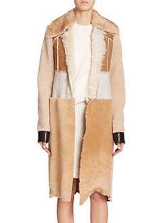 Calvin Klein Collection - Demro Shearling Patchwork Coat