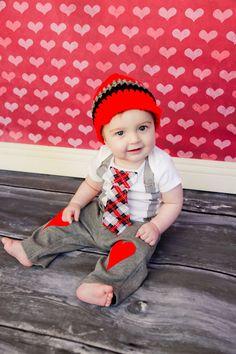 Valentines Day Baby Boys Heart Knee Patch pants  by shopantsypants, $17.00