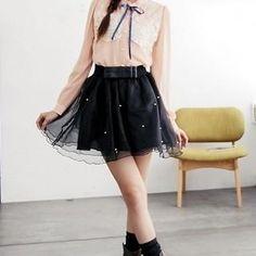 BAIMOMO  Beaded Tulle Skirt
