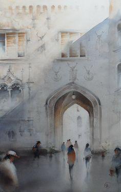Ilya Ibryaev Castle Hluboka - (Czech Republic) - watercolor (53х37) cm