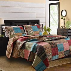 Lovely Bohemian Quilt - with paisley, chevron and stripes.