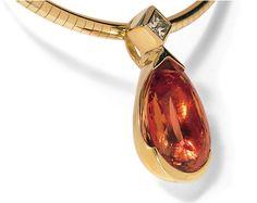 Brazilian Gemstones - H.Stern in Rio # Topázio Imperial, diamond,Gold