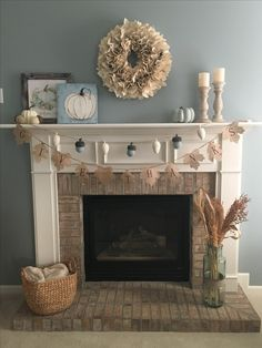 Thanksgiving mantels