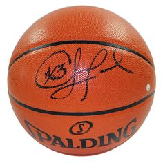 CHRIS PAUL Signed I/O NBA Orange Basketball (Adam Silver) (Signed In Black)…