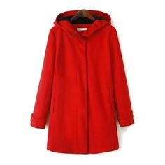 Casual Style Hooded Long Sleeve Solid Color Worsted Flocking Women's Coat