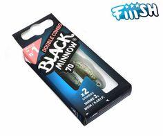 Artificiale Black Minnow Double Combo Shore 3 Gr Noir 70 mm