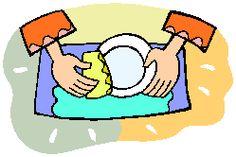 руки моют посуду схематично