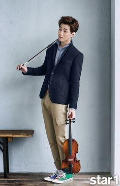 My favorite Henry pics-with his violin. Henry - @ Star1 Magazine March Issue '15