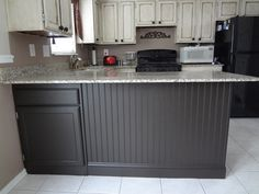 Adding Beadboard to your kitchen island - In Our Spare Time