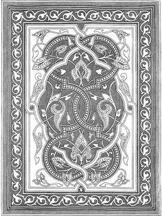 Islam, Design etc Islamic Patterns, Ethnic Patterns, Textile Patterns, Islamic Designs, Zentangle Patterns, Border Pattern, Pattern Art, Pattern Design, Mughal Architecture