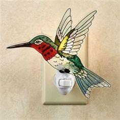 Ruby Throated Hummingbird Nightlight Multi Jewel