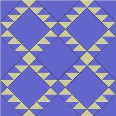 Navajo Quilt Design x 4