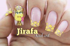 Cartoon Nail Designs, Animal Nail Designs, Nail Art Designs, Cute Nail Art, Cute Nails, My Nails, Linda Nails, Anime Nails, Semi Permanente
