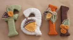 Repeat Crafter Me: Yarn Wrapped Letters for Fall