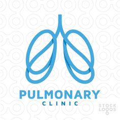 Abstract logo design of two lungs made of lines.