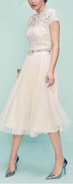 lace and tulle ensemble