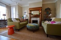 Colorful Sitting Room - eclectic - living room - dc metro - Nicole Lanteri