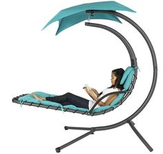 Hanging Chaise Lounger Chair $134.94 (ebay.com)